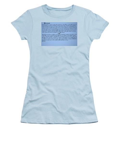 Desiderata Women's T-Shirt (Junior Cut) by Bill Cannon