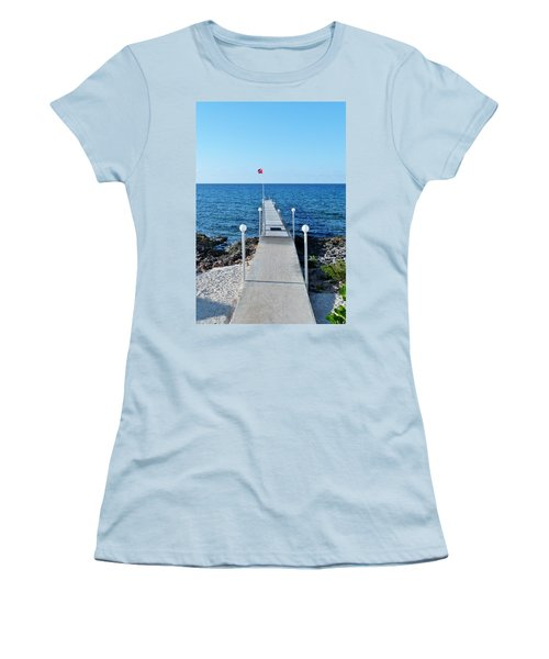 Women's T-Shirt (Junior Cut) featuring the photograph Divers Down by Amar Sheow