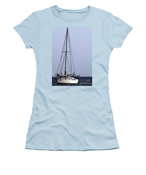 Women's T-Shirt (Junior Cut) featuring the photograph Docked At Bay by Lilliana Mendez