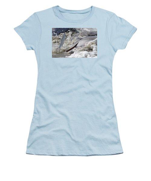 Dolphin Strand Feeding 2 Women's T-Shirt (Junior Cut) by Kevin McCarthy