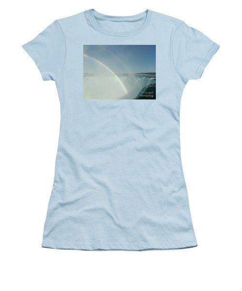 Women's T-Shirt (Junior Cut) featuring the photograph Double Rainbow by Brenda Brown