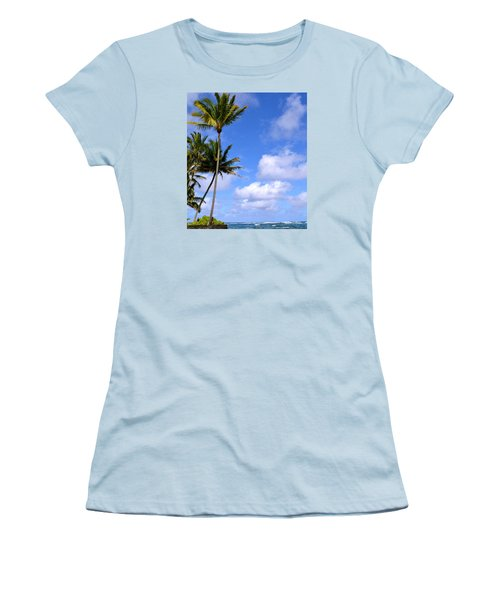 Women's T-Shirt (Junior Cut) featuring the photograph Down By The Ocean In Hawaii by Lehua Pekelo-Stearns