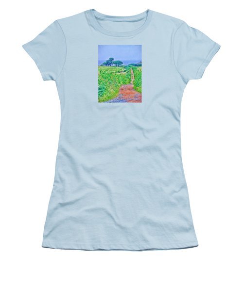 Down To The Sea Herm Island Women's T-Shirt (Athletic Fit)