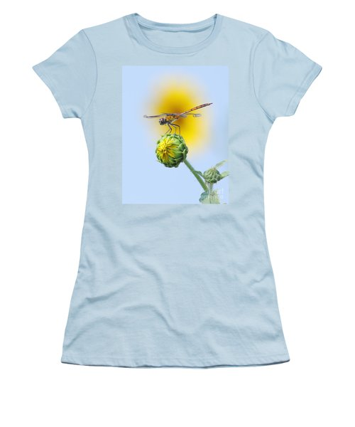 Dragonfly In Sunflowers Women's T-Shirt (Junior Cut) by Robert Frederick