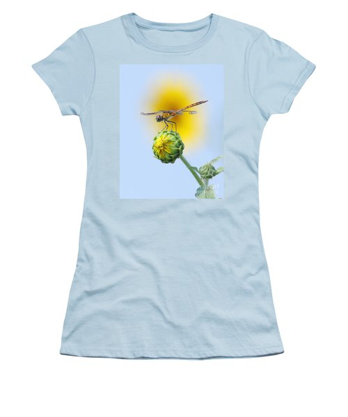 Dragonfly In Sunflowers Women's T-Shirt (Athletic Fit)