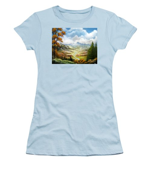 Women's T-Shirt (Junior Cut) featuring the painting Dreamin On by Patrice Torrillo