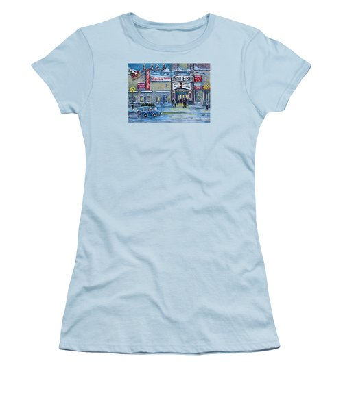 Dreaming Of A White Christmas Women's T-Shirt (Junior Cut) by Rita Brown