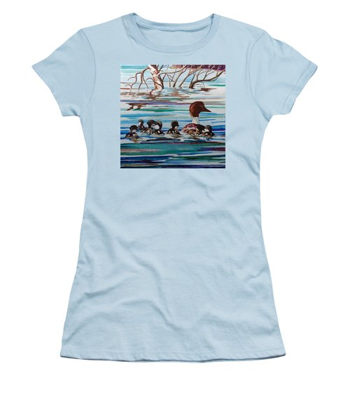 Ducks In A Row Women's T-Shirt (Athletic Fit)
