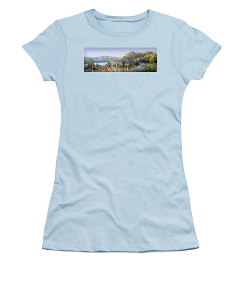 Dune Lake Panorama Saugatuck Mi Women's T-Shirt (Athletic Fit)