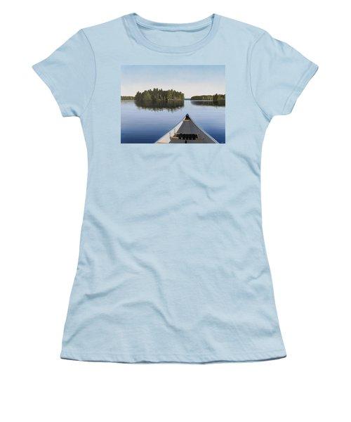 Early Evening Paddle Aka Paddle Muskoka Women's T-Shirt (Athletic Fit)