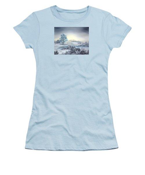 Early Morning Snows Women's T-Shirt (Junior Cut) by Jean Walker
