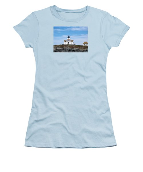 Egg Rock Lighthouse Women's T-Shirt (Junior Cut) by Catherine Gagne