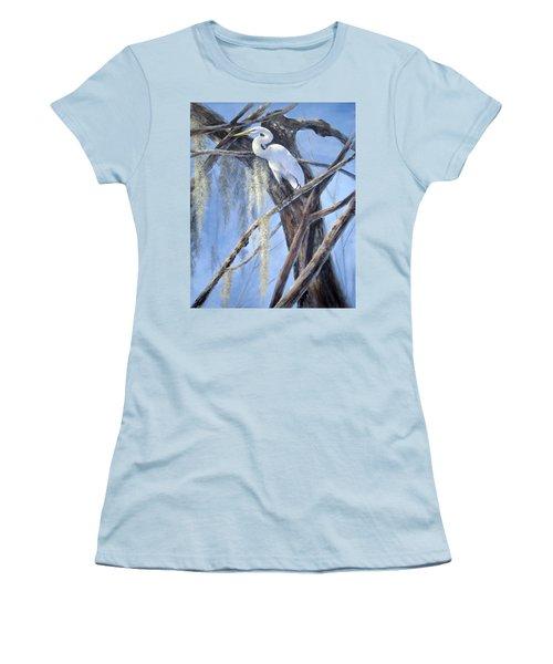 Egret Perch Women's T-Shirt (Junior Cut)