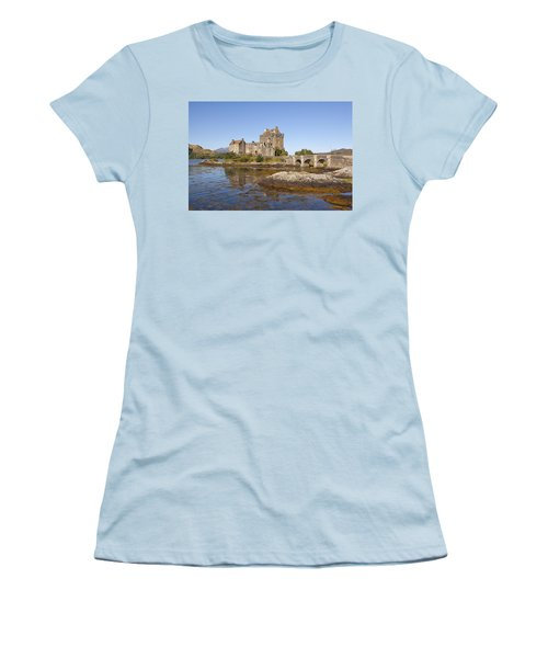 Eilean Donan Castle Women's T-Shirt (Junior Cut) by Eunice Gibb