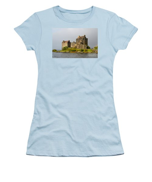Eilean Donan Castle In Scotland Women's T-Shirt (Athletic Fit)