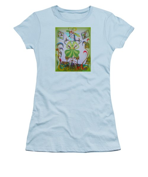 Women's T-Shirt (Junior Cut) featuring the painting Eleonore Friend Princess Melisa by Marie Schwarzer