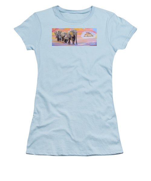 Elephant Fantasy Must Open Women's T-Shirt (Athletic Fit)