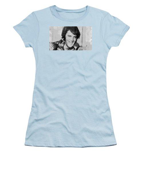 Elvis Presley Rock N Roll Star Women's T-Shirt (Junior Cut) by Georgi Dimitrov