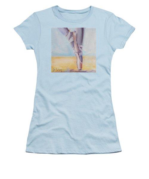 En Pointe Women's T-Shirt (Junior Cut) by Donna Tuten