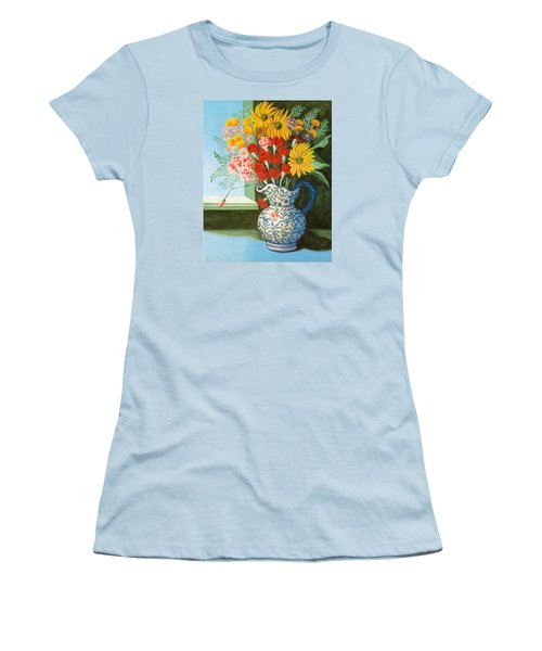 English Bouquet Women's T-Shirt (Athletic Fit)