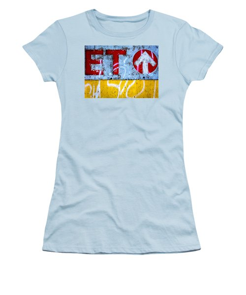 ET  Women's T-Shirt (Junior Cut) by Bob Orsillo