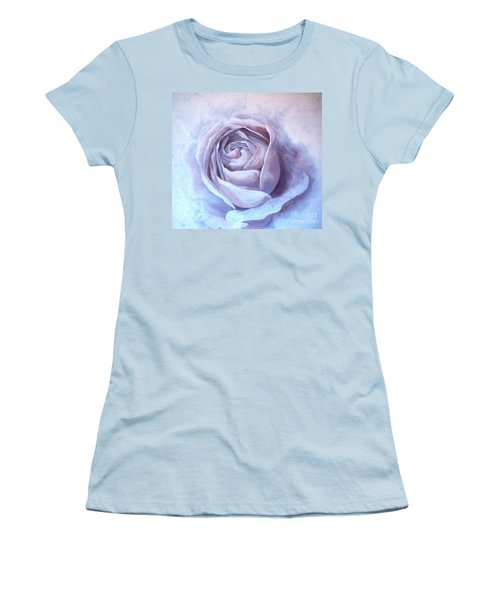 Women's T-Shirt (Junior Cut) featuring the painting Ethereal Rose by Sandra Phryce-Jones