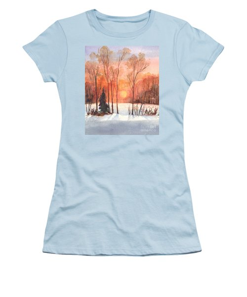 The Evening Glow Women's T-Shirt (Junior Cut) by Carol Wisniewski