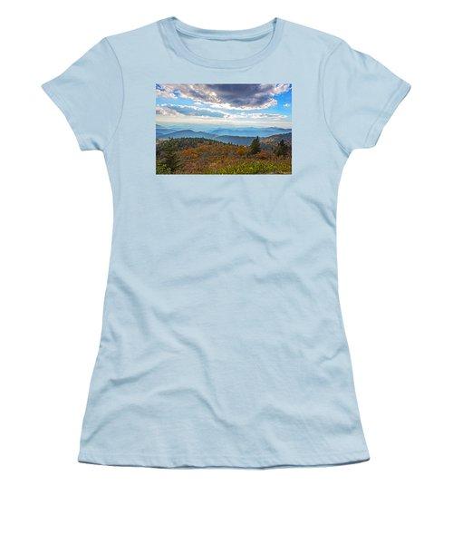 Evening On The Blue Ridge Parkway Women's T-Shirt (Junior Cut) by John Haldane