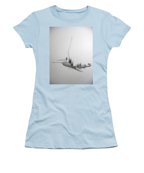 Women's T-Shirt (Junior Cut) featuring the painting Evocation by A  Robert Malcom