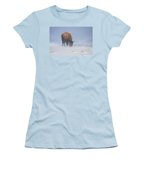 Women's T-Shirt (Junior Cut) featuring the photograph Faces The Blizzard by Jack Bell