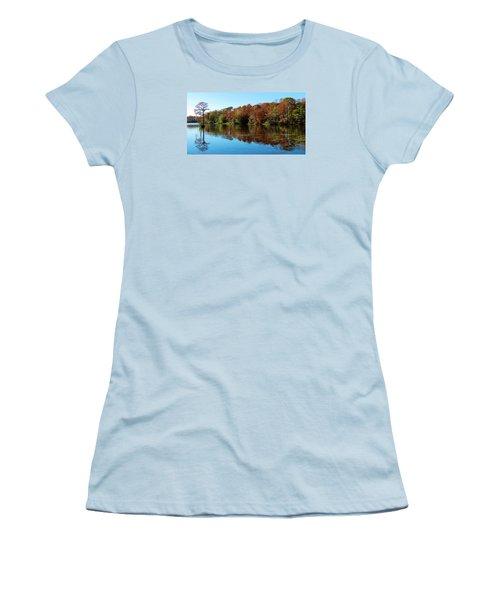 Fall In The Air Women's T-Shirt (Junior Cut) by Cynthia Guinn