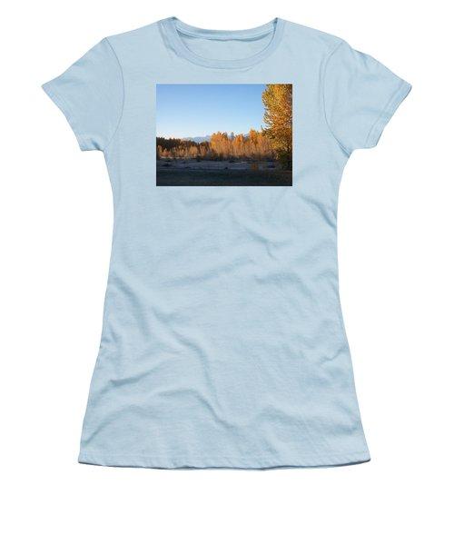 Women's T-Shirt (Junior Cut) featuring the photograph Fall On The River by Jewel Hengen