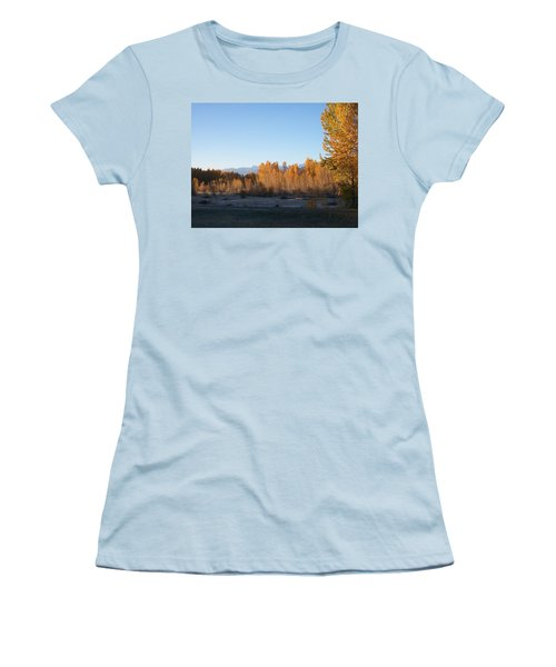 Fall On The River Women's T-Shirt (Athletic Fit)