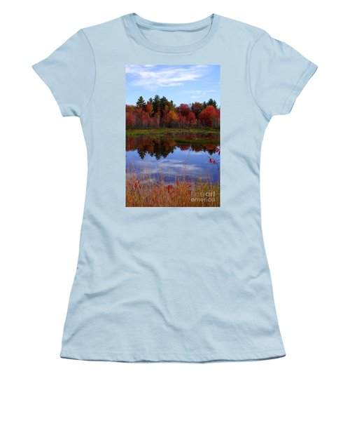 Fall Reflections Women's T-Shirt (Junior Cut) by Kerri Mortenson