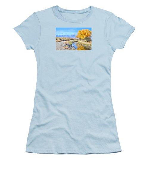 Fall Reflections Women's T-Shirt (Junior Cut) by Marilyn Diaz