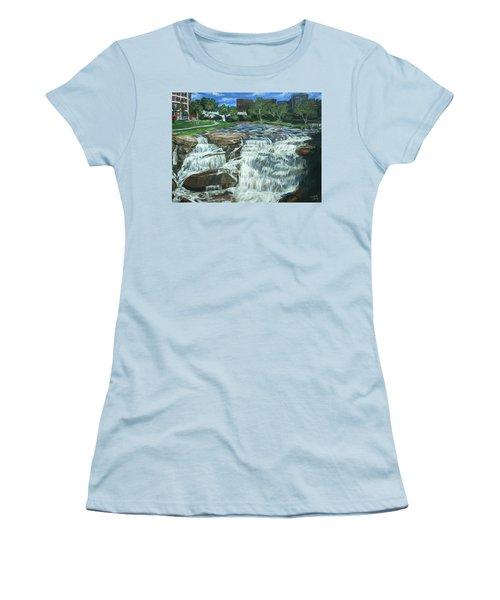 Falls River Park Women's T-Shirt (Junior Cut) by Bryan Bustard