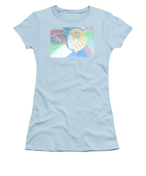 Fantasy Of Egg And Cactus Women's T-Shirt (Junior Cut) by Esther Newman-Cohen