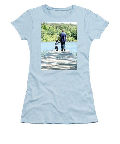 Father And Son Women's T-Shirt (Junior Cut) by Andrea Anderegg