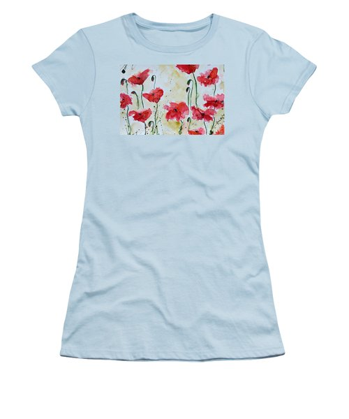 Feel The Summer 1 - Poppies Women's T-Shirt (Athletic Fit)