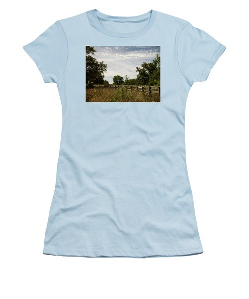 Fence 2 Women's T-Shirt (Junior Cut) by Cynthia Lassiter