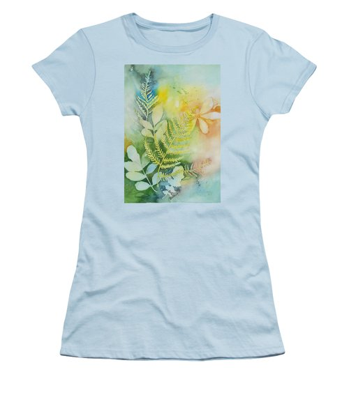 Ferns 'n' Leaves Women's T-Shirt (Athletic Fit)