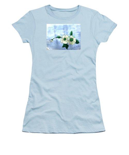 Field Flowers Women's T-Shirt (Junior Cut) by Francine Heykoop