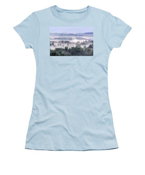 Finger Lakes Morning Women's T-Shirt (Athletic Fit)