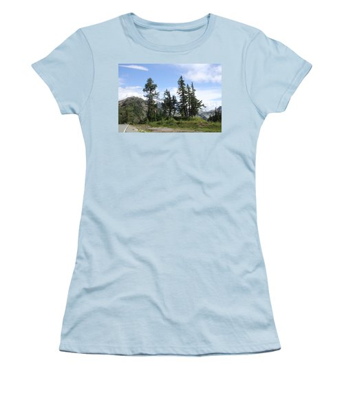 Women's T-Shirt (Junior Cut) featuring the photograph Fir Trees At Mount Baker by Tom Janca