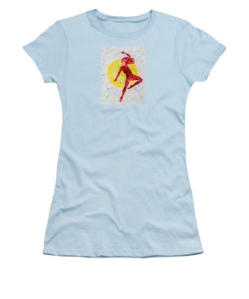 Women's T-Shirt (Junior Cut) featuring the painting Fire Dancer by Mary Armstrong