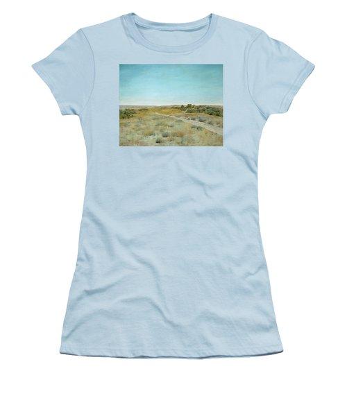 First Touch Of Autumn Women's T-Shirt (Junior Cut) by William Merritt Chase
