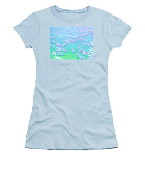 Women's T-Shirt (Junior Cut) featuring the photograph Fish by Rachel Mirror
