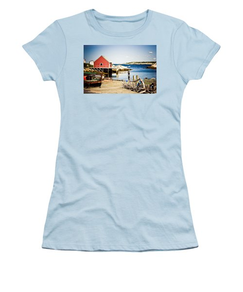 Women's T-Shirt (Junior Cut) featuring the photograph Fisherman's Cove by Sara Frank