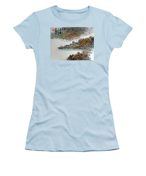 Fishing Village In Autumn Women's T-Shirt (Junior Cut) by Yufeng Wang