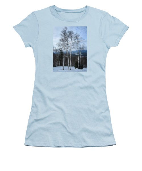 Five Birch Trees Women's T-Shirt (Athletic Fit)